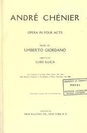 Cover of: Andrea Chénier