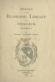 Cover of: Annals of the Redwood library and athenaeum by George C. Mason