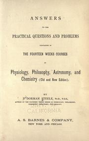 Cover of: Answers to the practical questions and problems contained in the fourteen week courses