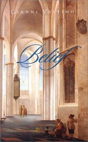 Cover of: Belief (Cultural Memory in the Present)