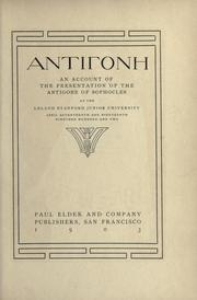 Cover of: Antigone |
