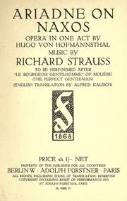 Cover of: Ariadne auf Naxos