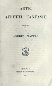 Cover of: Arte, affetti, fantasie