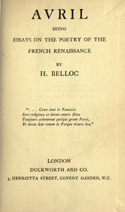 essays of hilaire belloc