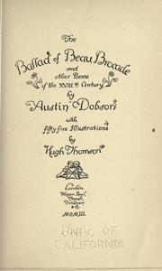 Cover of: The ballad of Beau Brocade | Dobson, Austin
