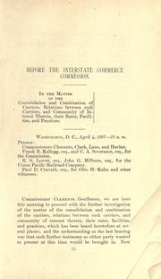 Cover of: Before the Interstate commerce commission. | United States. Interstate Commerce Commission.