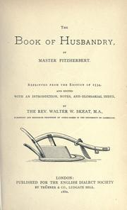 Cover of: The Book of Husbandry by Anthony Fitzherbert, Sir