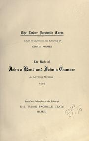 Cover of: The book of John-a-Kent and John-a-Cumber
