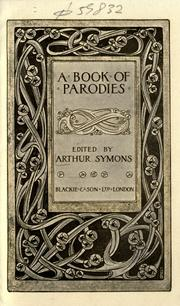 Cover of: A book of parodies