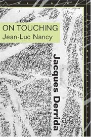 Cover of: On Touching-Jean-luc Nancy