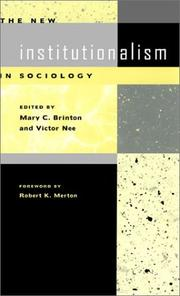 Cover of: The New Institutionalism in Sociology |