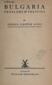 Cover of: Bulgaria | George Clenton Logio