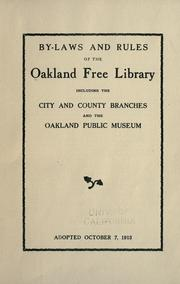Cover of: By-laws and rules of the Oakland Free library by Oakland Free Library.