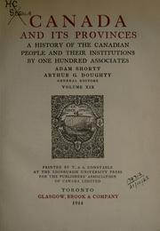 Cover of: Canada and its provinces
