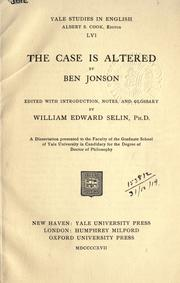 Cover of: The case is altered