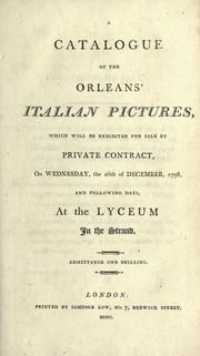 Cover of: A catalogue of the Orleans