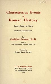 Cover of: Characters and events of Roman history, from Cæsar to Nero
