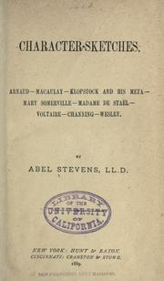 Cover of: Character-sketches