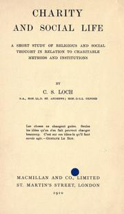 Cover of: Charity and social life | C. S. Loch