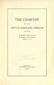 The Charter of the City of Portland, Oregon by Portland (Or.)