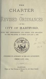 Cover of: The charter and revised ordinances of the city of Hartford by Hartford.