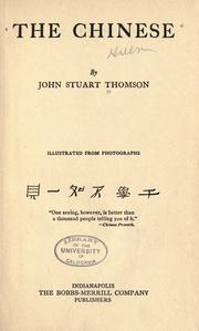 Cover of: Chinese. | John Stuart Thomson