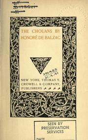 Cover of: Chouans. | HonorГ© de Balzac