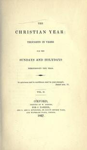 Cover of: The Christian year | John Keble