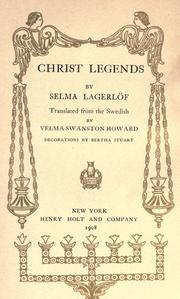 Cover of: Christ legends | Selma Lagerlöf