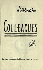 Cover of: Colleagues