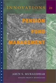 Cover of: Innovations in Pension Fund Management