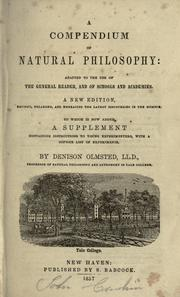 Cover of: A compendium of natural philosophy | Denison Olmsted