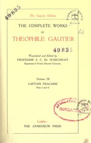 Cover of: The complete works of Théophile Gautier | ThГ©ophile Gautier