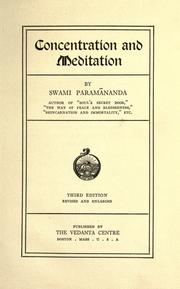 Cover of: Concentration and meditation | Paramananda Swami