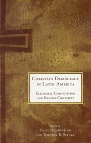Cover of: Christian Democracy in Latin America |