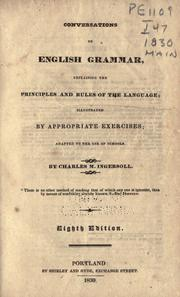 Cover of: Conversations on English grammar | Charles M. Ingersoll