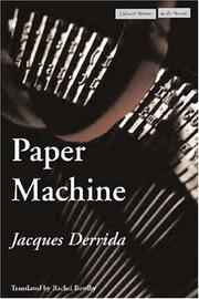 Cover of: Paper Machine (Cultural Memory in the Present)