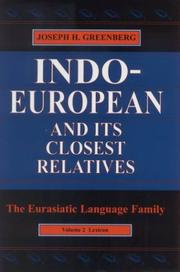 Cover of: Indo-European and Its Closest Relatives