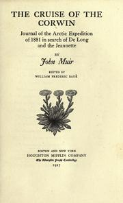 Cover of: The  cruise of the Corwin by John Muir