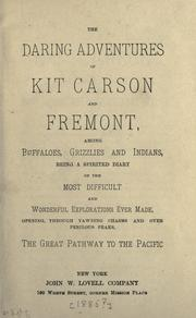 Cover of: The daring adventures of Kit Carson and Fremont |