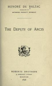 Cover of: The Deputy of Arcis