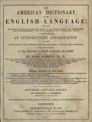 Noah webster dissertations on the english language 1789 france