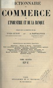 Cover of: Dictionnaire du commerce, de l'industrie et de la banque
