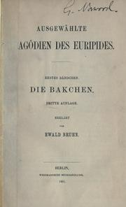Cover of: Bacchae