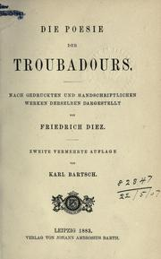 Cover of: Die Poesie der Troubadours