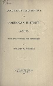 Cover of: Documents illustrative of American history, 1606-1863