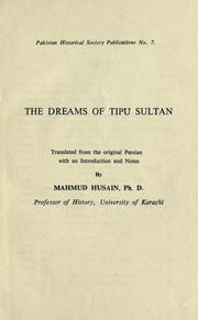 Cover of: The dreams of Tipu Sultan