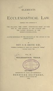 Cover of: Ecclesiastical trials | S. B. Smith