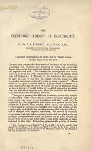 Cover of: The electronic theory of electricity