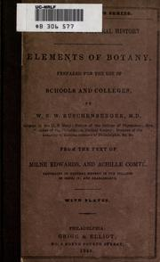 Cover of: Elements of botany